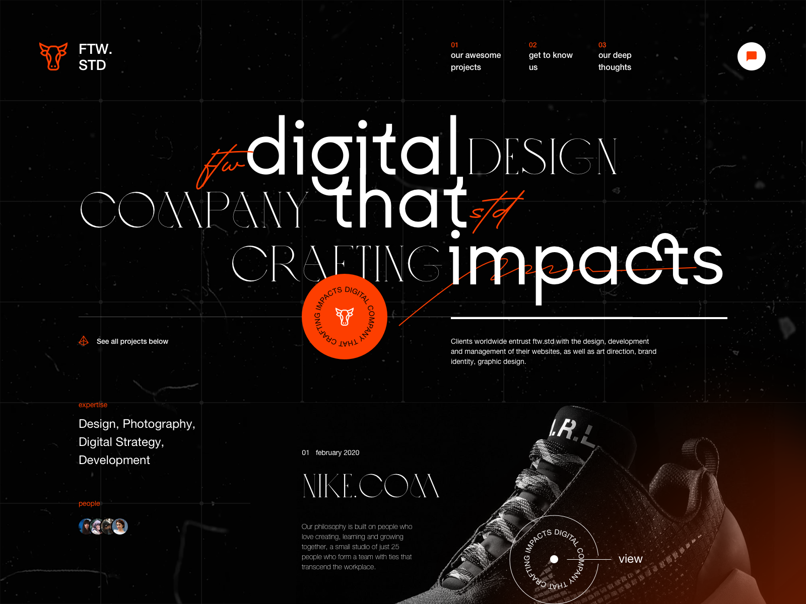 Studio Website Design Exploration profile digital studio experimental typography experimental design consultant design firm agency studio