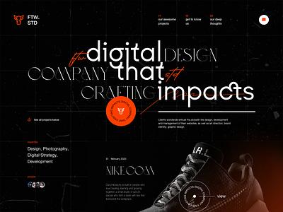 Studio Website Design Exploration profile digital studio experimental typography experimental design consultant design firm agency studio