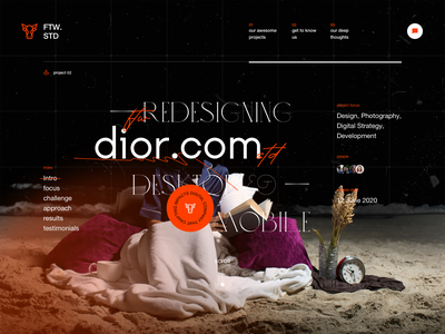 Studio Website Design Exploration: Project Details Page experimental typography personal website portofoilo website consultant website design studio design agency website digital studio website design firm website design studio website