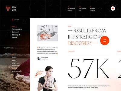 Studio Website Design Exploration: Project Details Page 2 portofolio website personal website design agency website design studio website