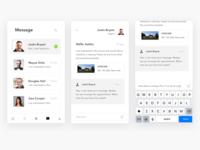 Property App message screens