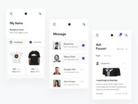 ScndShop app screens