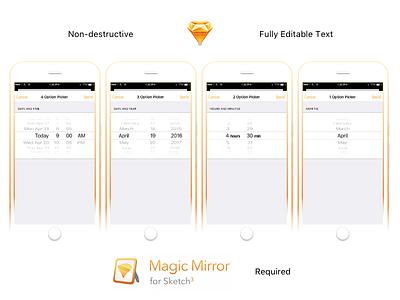 iOS UIpickerview - Download magic mirror ios list uipicker freebie download sketch non-destructive date and time uipickerview ios