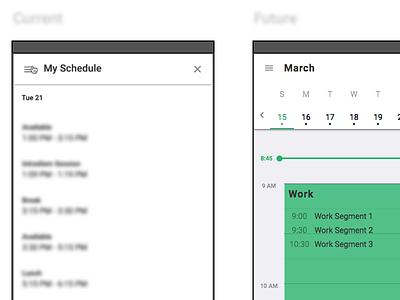 Web App web app material material design angular documentation process work week calendar schedule contact center webflow