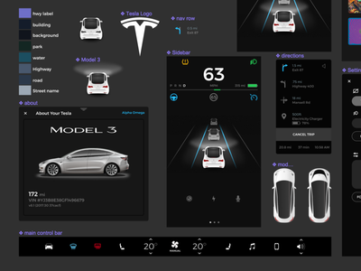 Tesla Model 3 UI ui ux article tesla model 3 figma car ui tesla