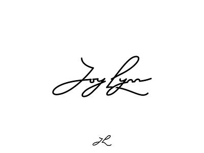 Joy Lynn Script Logo and Monogram figma signature script blog logo monogram