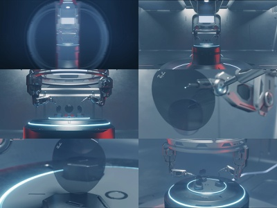 Ray-Ban Lenses App app motion graphics lenses ray-ban 3d