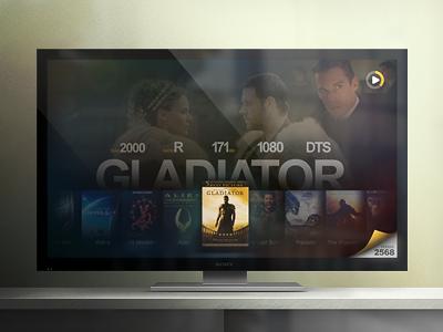 HTPC UI, Showcase view ui media player film music tv