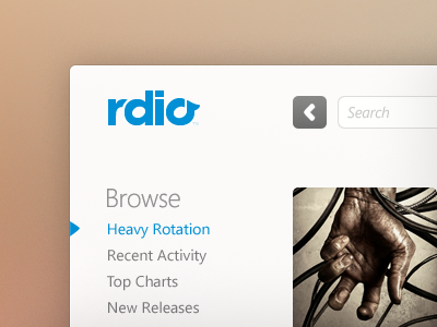 Rdio ui rdio music player desktop windows
