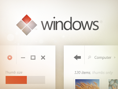 Windows UI Concept ui windows os windows 8 windows 9 explorer skype desktop metro minimalist gui logo