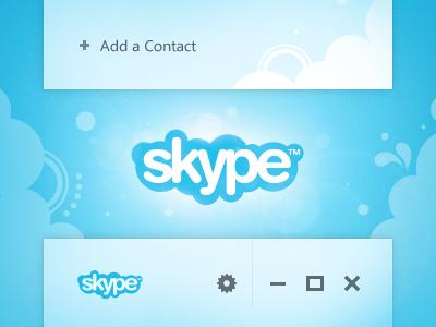 Skype Concept ui skype windows minimalist microsoft
