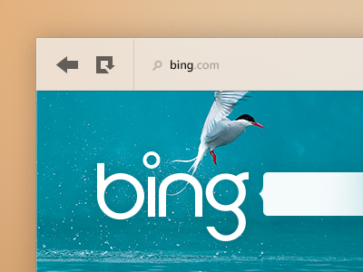 Bing bing microsoft search web internet explorer ui minimal