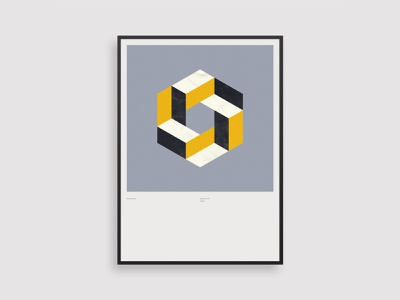 Vormentaal - Tegel swiss poster minimal geometric art marble illustration isometric geometric dutch