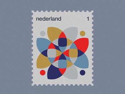 Dutch Post Stamps series 3-1 geometric simple minimal netherlands nederland stamps stamp dutch modernism