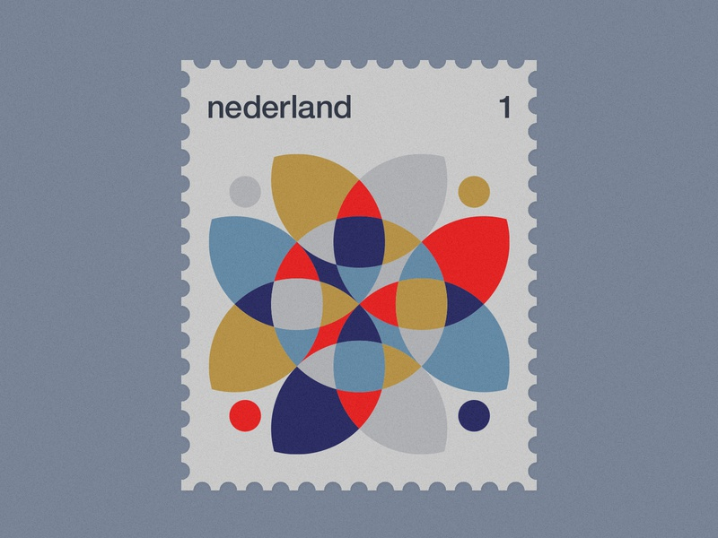 Dutch Post Stamps series 3-1 geometric simple minimal netherlands nederland stamps stamp dutch modernism