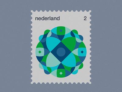 Dutch Post Stamps series 3-2 stamps stamp simple netherlands nederland modernism minimal geometric dutch