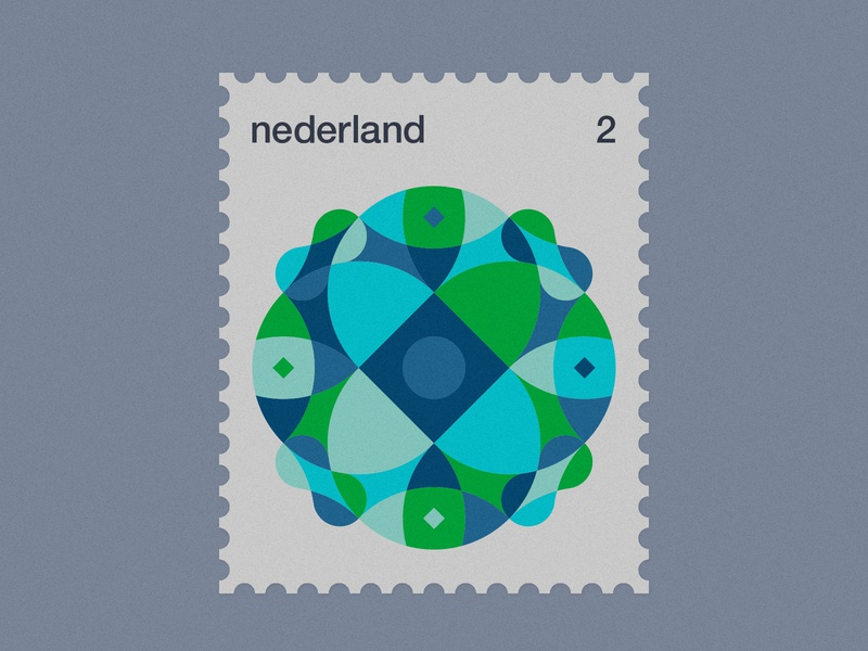 Dutch Post Stamps series 3-2 stamps stamp simple netherlands nederland modernism minimal geometric dutch