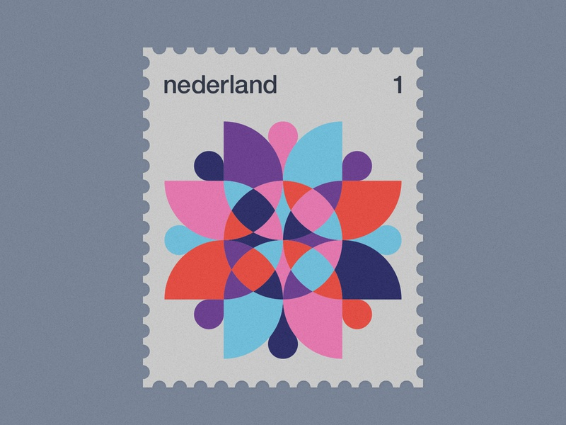 Dutch Post Stamps series 3-3 stamps stamp simple netherlands nederland modernism minimal geometric dutch