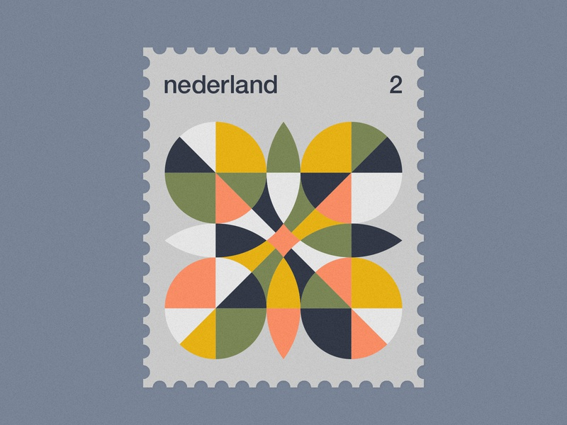 Dutch Post Stamps series 3-4 stamps stamp simple netherlands nederland modernism minimal geometric dutch