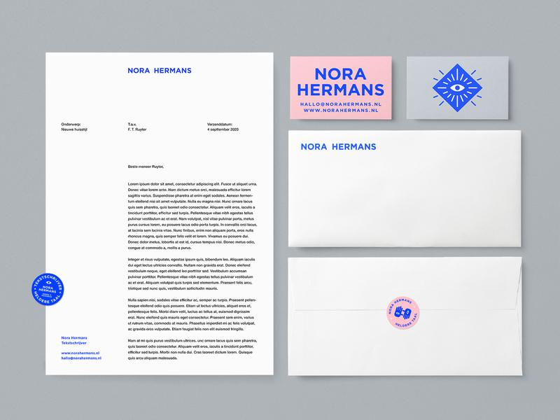 Nora Identity System branding design branding brand design brand copywriter logo a4 letterhead letter print envelope business card stationery identity