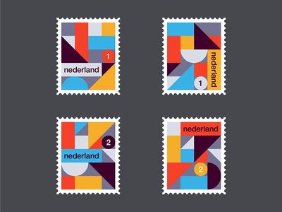 Dutch stamps pattern minimal clean illustration art abstract 2d de stijl simple netherlands dutch stamp geometric holland stamps