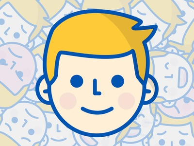 Faces dutch icon hike one avatar face illustration