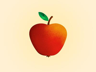 """Apple"" exploration gradient noise adobe photoshop cc apple dutch netherlands rotterdam hike one one hike"