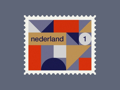 Dutch post stamp 3 stamps stamp simple rotterdam pattern netherlands minimal illustration holland geometric dutch de stijl clean art abstract 2d