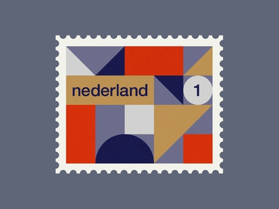 Dutch post stamp 3