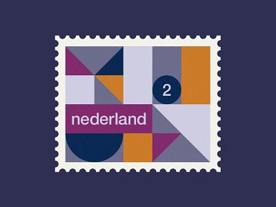 Dutch post stamp 4 art geometric pattern de stijl simple minimal netherlands holland poststamps stamps stamp 2d