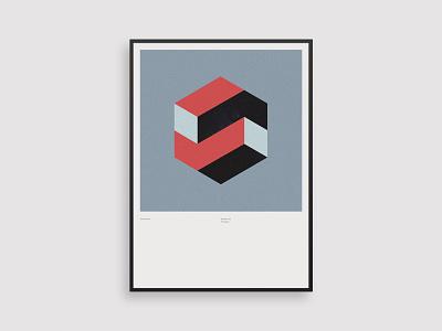 Vormentaal - Polygon framed poster modernism dutch geometric illustration minimal 2d