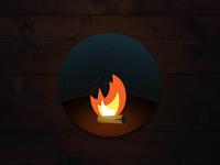 Around the Fire Sticker Design