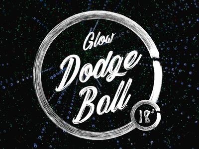 Glow Dodge Ball Post Card