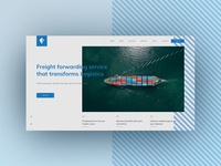 Web Concept for Freight forwarding