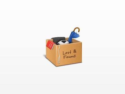 Lost & Found icon box lost and found