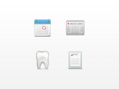 Medical Icons pharmacy medicine icons tooth calendar newspaper