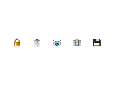Untitled 30px icons lock store preview bank floppy