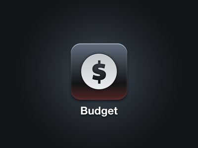Back in Black Budget icon finance budget ios