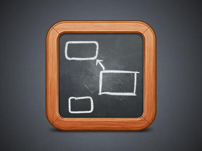 App Icon app icon mac osx application chalk blackboard
