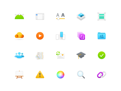 Colorful Icons layer styles colorful 64px icons