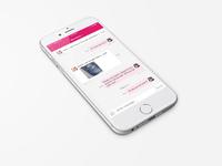 Message screen of social iOS app
