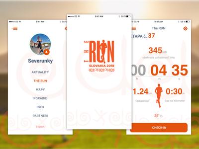 The Run Slovakia app - FOLK design