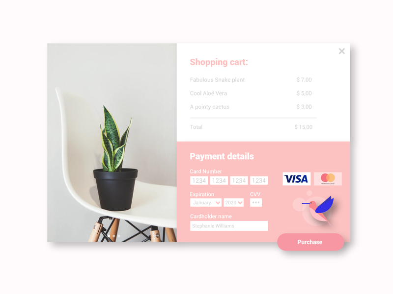 DailyUI #002 - Creditcard checkout