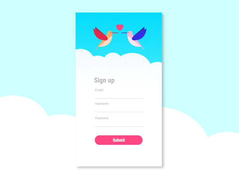 DailyUI #001 - Sign up