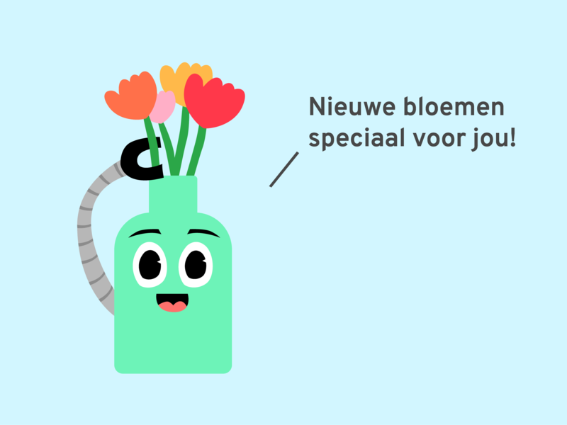 Robo-vase gives you compliments!