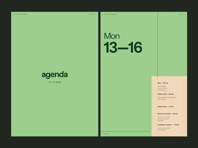 Having fun with... Arial?! lines brutalist sans arial green poster agenda magazine print layout design simple bold typography elegant