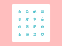 Icons for the mobile app
