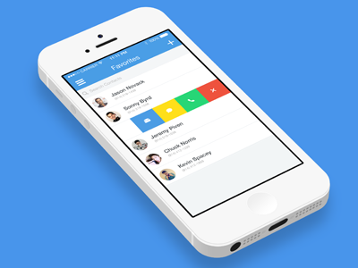 Swipe Contacts App