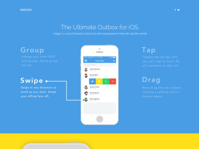 Landing Page for an App