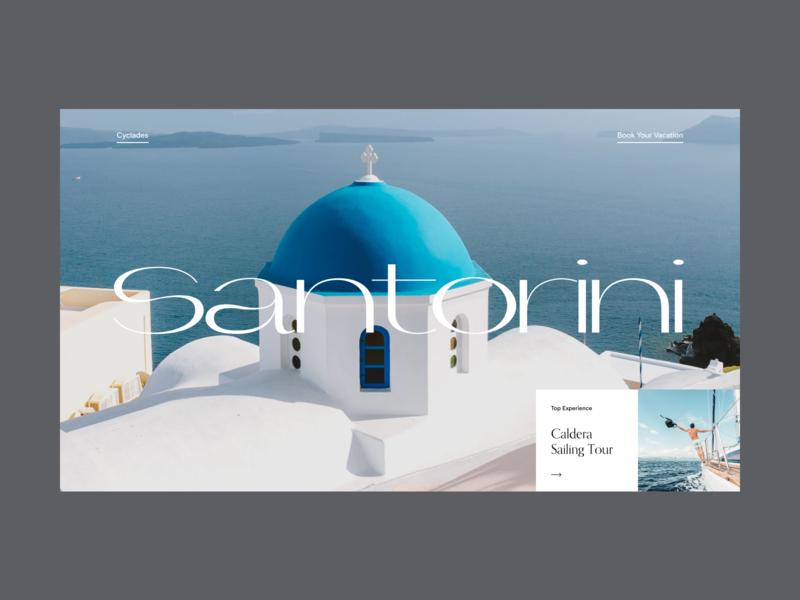Greece Destination Website card interaction interface promo ui ux typography video web website hero slider minimal grid destination travel greece